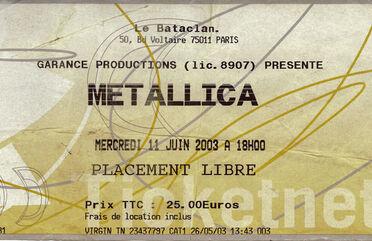 Tour Memorabilia (2003)
