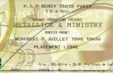 Tour Memorabilia (1999)
