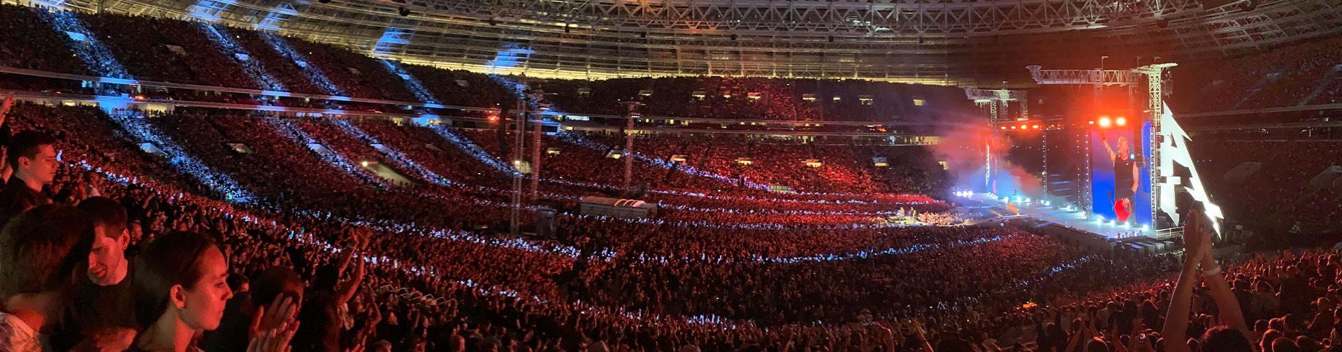 Metallica at Luzhniki Stadium in Moscow, Russia on July 21, 2019