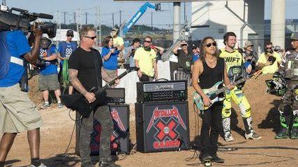 Metallica performs the National Anthem at X Games Austin
