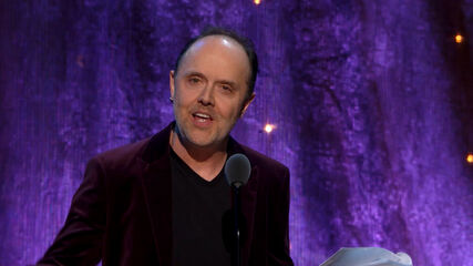 Lars Inducts Deep Purple Into the Rock and Roll Hall of Fame