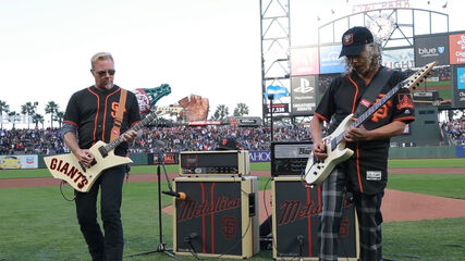 Kirk & James Perform the National Anthem (2017 Metallica Night w/ the SF Giants)