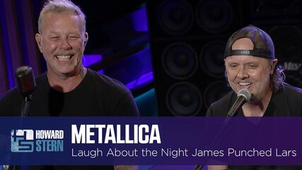 Metallica Laughs About the Night James Hetfield Punched Lars Ulrich (The Howard Stern Show - September 9, 2021)