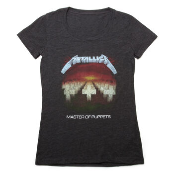 Women's Master of Puppets Distressed Tri-Blend T-Shirt, , hi-res