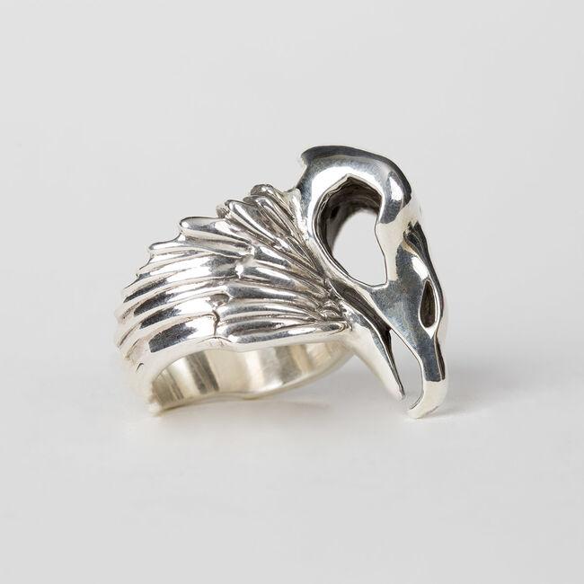 Vulturus Sterling Silver Ring, , hi-res