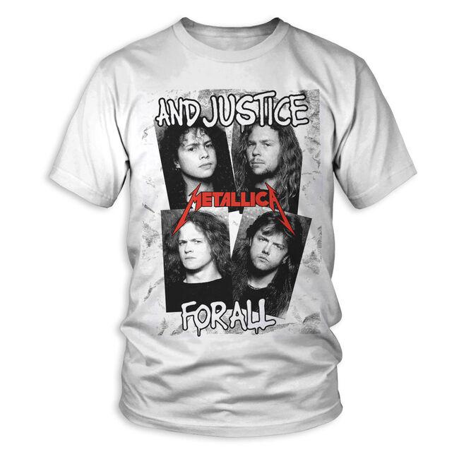34b0b3c599 And Justice For All Faces T-Shirt | Metallica.com | Metallica.com
