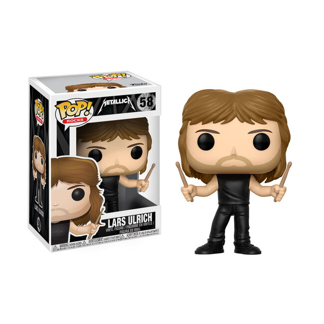 Funko Pop Rocks Lars Ulrich Action Figure Metallica Com