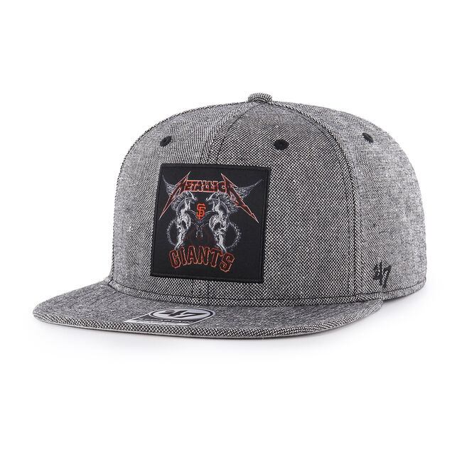 SF Giants Two Skulls Snapback Hat, , hi-res