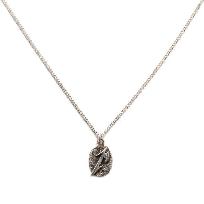 Sterling Silver M Logo Necklace, , hi-res