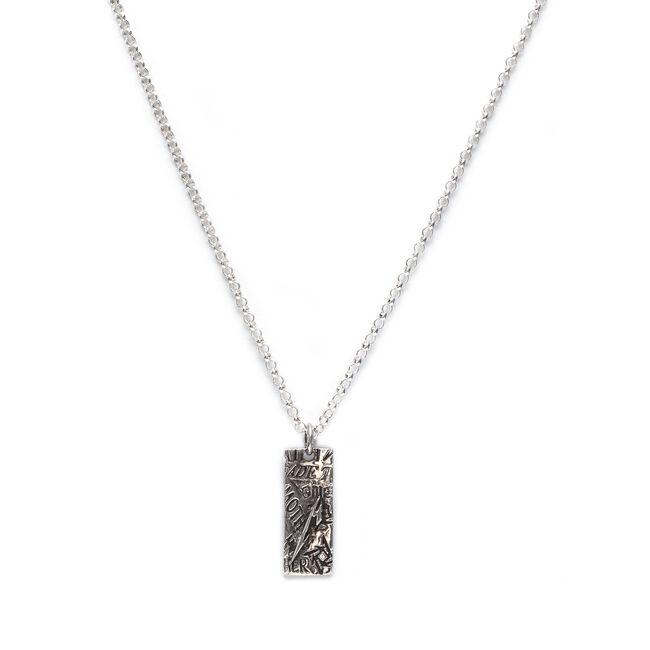 Silver Setlist M Necklace, , hi-res