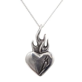 Flaming Heart Necklace, , hi-res