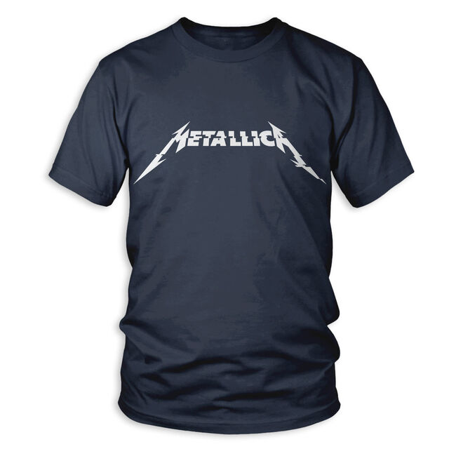 Metallica Glitch Logo T-Shirt - Denim Blue, , hi-res