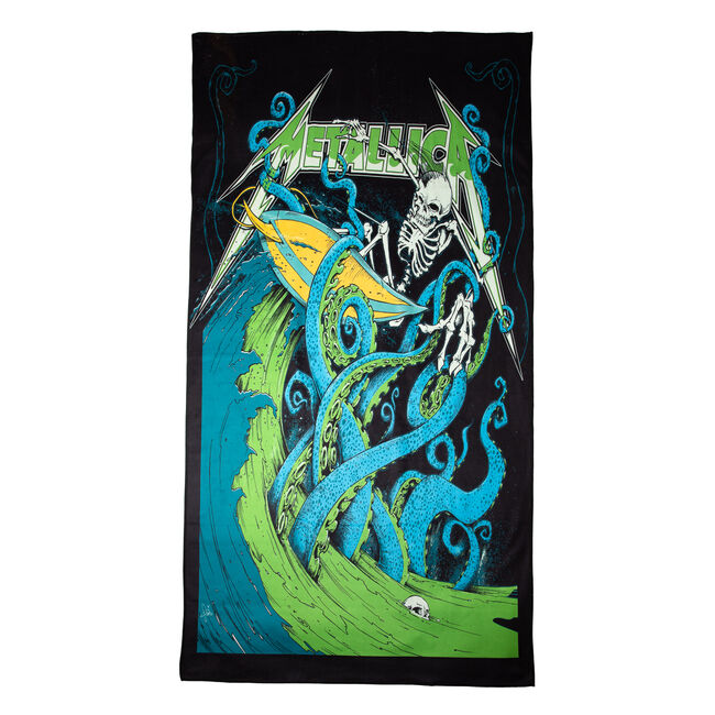 Skeleton Surf Beach Towel, , hi-res