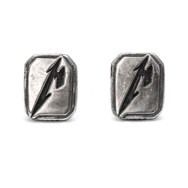 M Logo Cuff Links, , hi-res