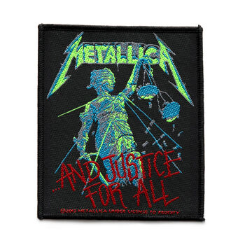 ...And Justice For All Woven Patch BLACK, , hi-res