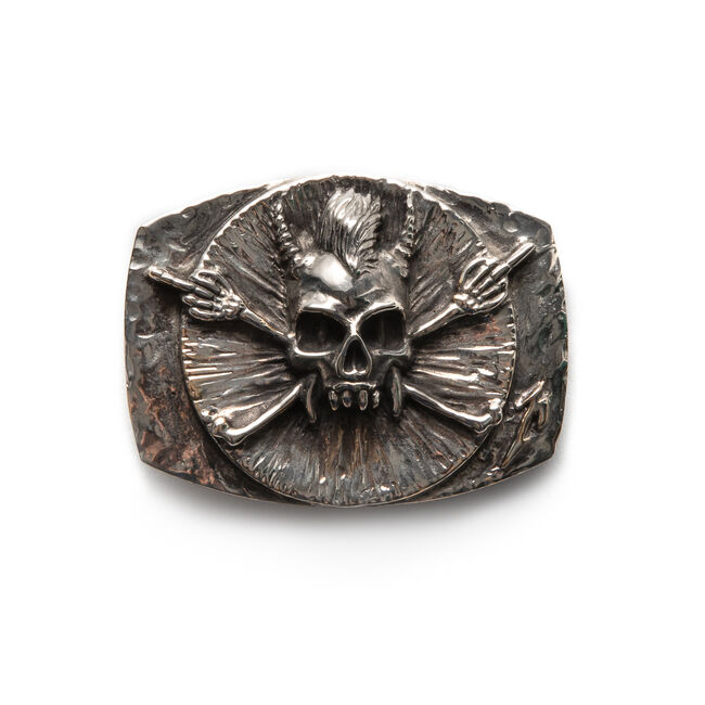 Scary Guy Belt Buckle, , hi-res