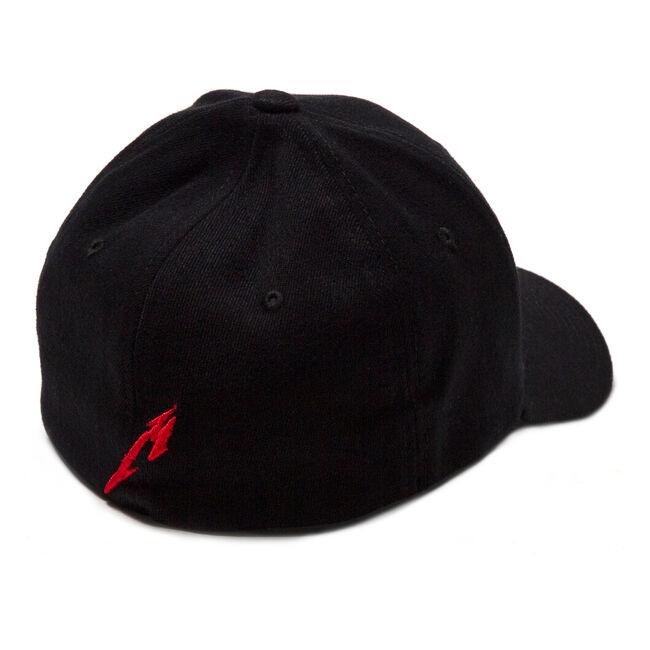 Glitch Red Logo Flex Fit Hat, , hi-res