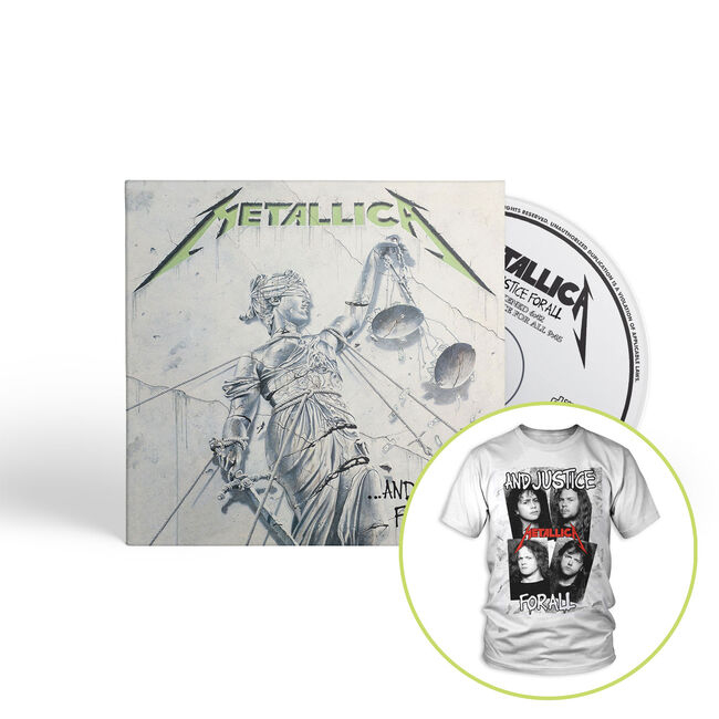 ...And Justice For All (Remastered) - CD & Men's T-Shirt Bundle, , hi-res