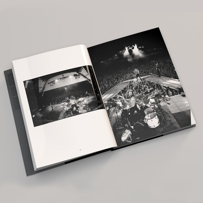 Metallica: The Black Album in Black & White Book by Ross Halfin, , hi-res