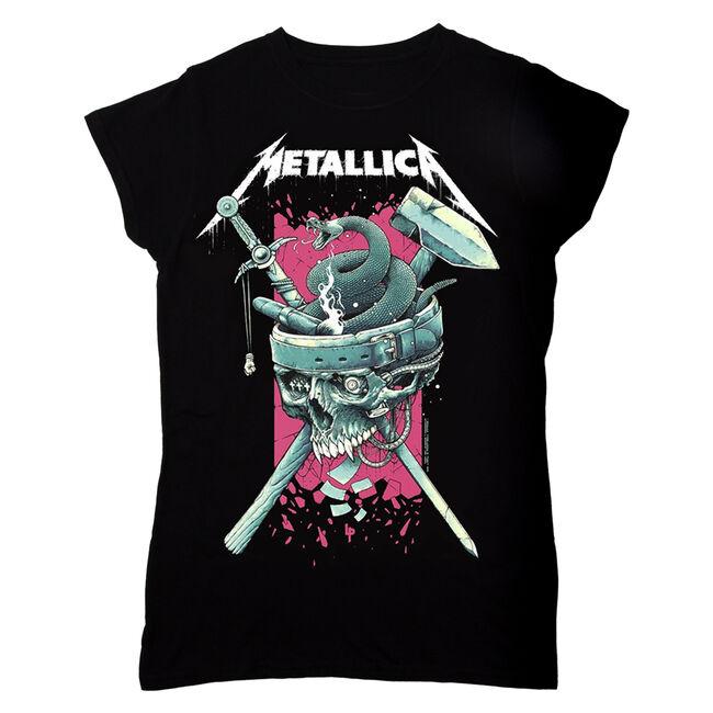 Women's Skull History T-Shirt (Pink), , hi-res