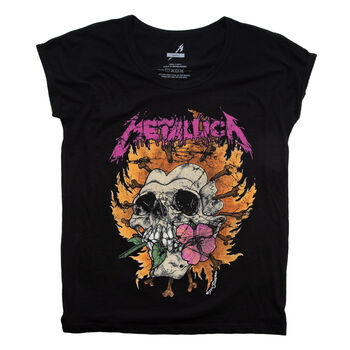 Women's Burning Flower T-Shirt, , hi-res