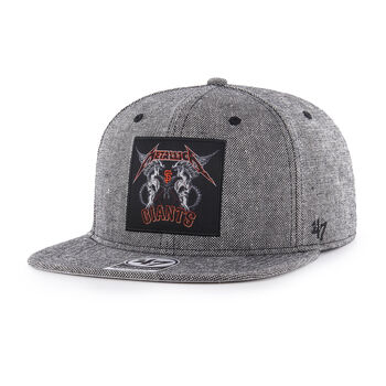 SF Giants Two Skulls Snapback Hat, , hi-res