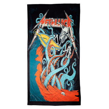 Skeleton Surf Beach Towel (Alternate), , hi-res