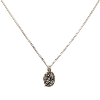 Sterling Silver M Logo Necklace, , hi-res