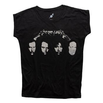 Women's Black Album Four Faces T-Shirt, , hi-res