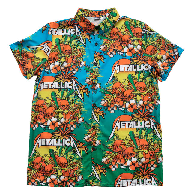 Skull Sunrise Hawaiian Shirt, , hi-res