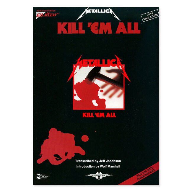 Kill 'Em All - Guitar Tablature Book, , hi-res
