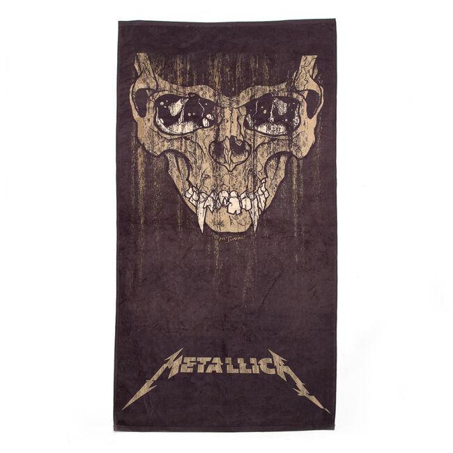 Sepia Skull Beach Towel, , hi-res