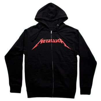 Glitch Red Logo Full Zip Hoodie, , hi-res