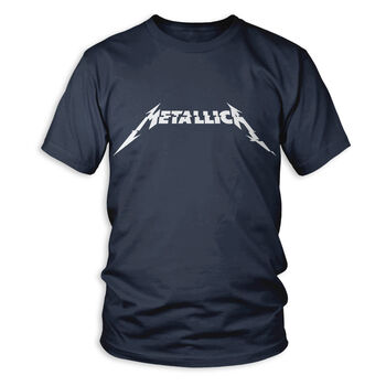 Metallica Glitch Logo T-Shirt - Denim Blue, , hi-res