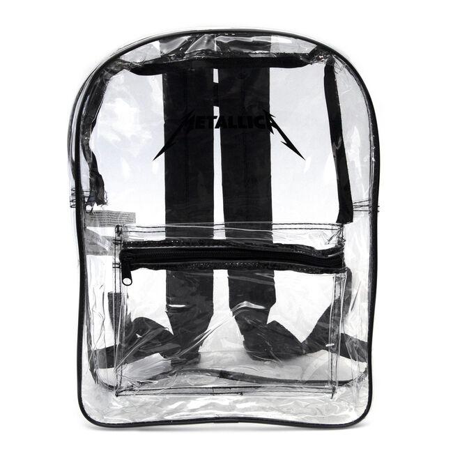 Metallica Logo Clear Backpack, , hi-res