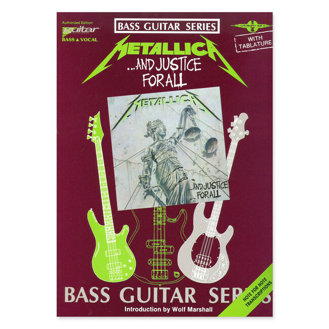 ...And Justice for All - Bass Guitar Tablature Book, , hi-res