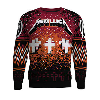 Master of Puppets Cross Holiday Sweater, , hi-res