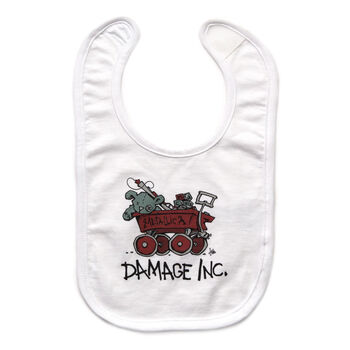 Damage, Inc. Wagon Baby Bib, , hi-res