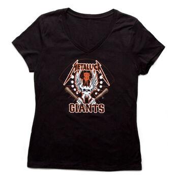 SF Giants Skull Bat Ball Women's T-Shirt, , hi-res