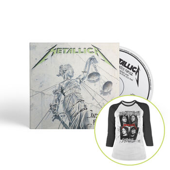 ...And Justice For All (Remastered) - CD & Women's T-Shirt Bundle, , hi-res