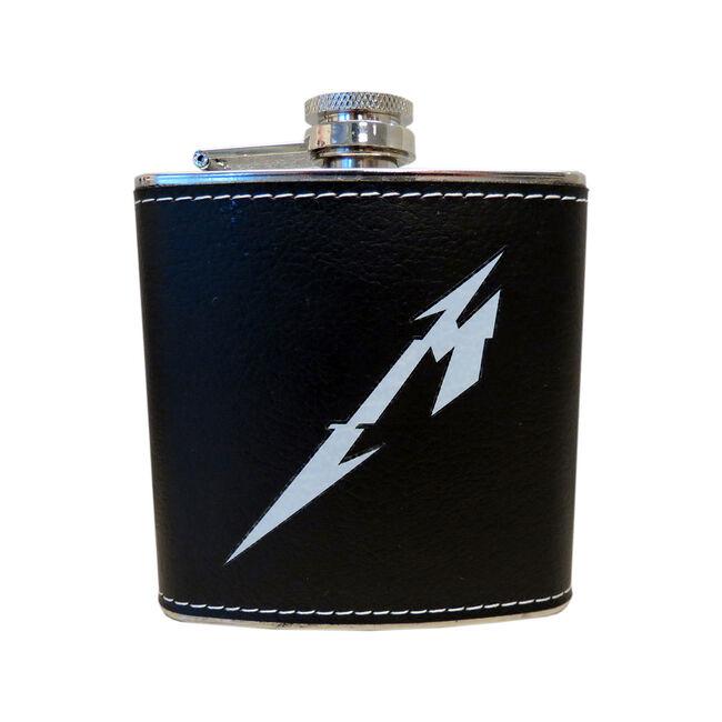 Glitch M Logo Leather Flask, , hi-res