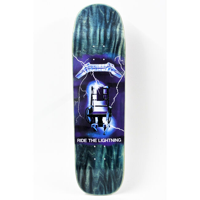 Ride The Lightning Skateboard Deck, , hi-res