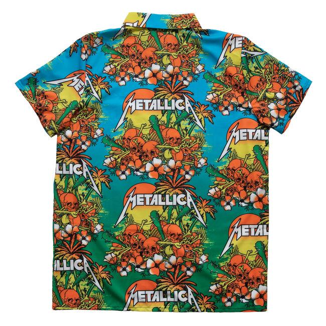 Skull Sunrise Hawaiian Shirt - L, , hi-res