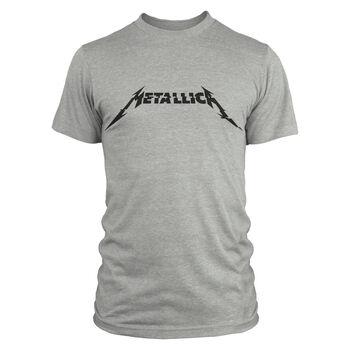 Metallica Glitch Logo T-Shirt - Grey, , hi-res