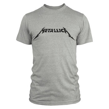 Metallica Glitch Logo T-Shirt - Grey, , hi-res
