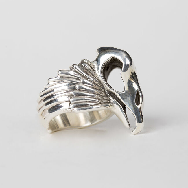 Vulturus Sterling Silver Ring, , hi-res