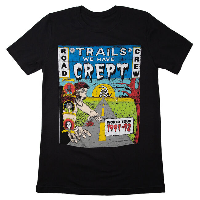 Trails We Have Crept Distressed T-Shirt - XL, , hi-res
