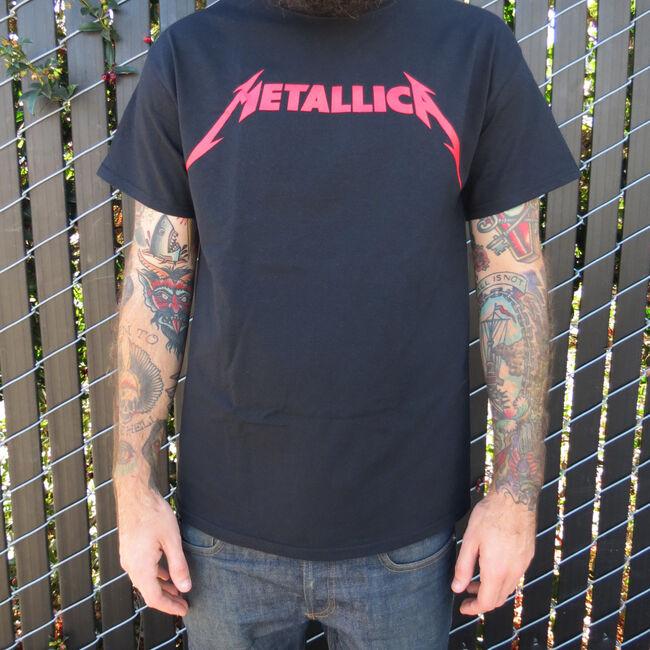 Red Metallica Logo T-Shirt, , hi-res