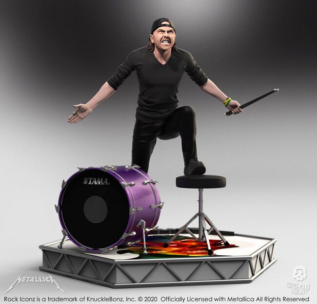 Lars Ulrich Hardwired Rock Iconz Statue, , hi-res