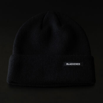 Blackened Whiskey Cuffed Beanie, , hi-res